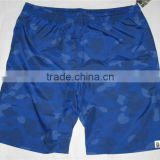 men's poly m/f twill swimming shorts solid color boardshort micro fiber beach shorts