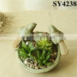 Animal design small ceramic succulent pots