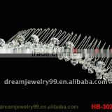 fashion plastic hair comb full shinning crystal floral combs wedding bridal comb jewelry