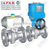 Lapar Ball Valve with Pneumatic or Electric Actuator, Fire Safe design, ISO5211 Mounting Pad