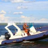 made in China hot sale blue color 580B fiberglass inflatable boat with CE certification and outboard engine
