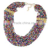 latest design beads necklace Shining Exquisite workmanship Europe and America Popular Measly Alloy Chain Necklace in Stock