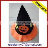 Wholesale YiWu 2015 new product New Carniva Black and Yellow Halloween Hat with bat logo