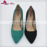 SSK16-271 factory price luxurious elegant fashion sexy top quality graceful mircofibre thin high heel pump women