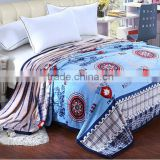 Rotary printed color flannel fleece blanket