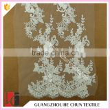 HC-5950-1 Hechun Chiffon Flowers Hand Cut Bridal Lace Fabric for Wedding Gown
