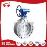 Sanitary Stainless Steel Threaded Cheap China OEM Manufacturer Custom Double Flanged Butterfly Valve WIth Positioner