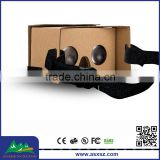 Hot Selling DIY 3D Google Cardboard box With NFC Custom Logo Print Google cardboard 3D vr glasses for promotional gifts