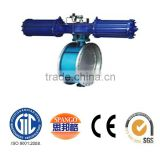 metal seat double flange triple eccentric butterfly valve