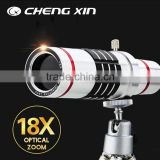 Europe Popular 18X astronomical telescope mirror universal clip zoom lens for mobile phone with tripod
