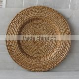 Woven rattan charger plates