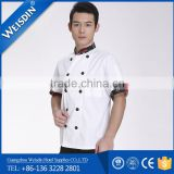 peral buttons burgundy color short sleeve unisex long sleeve executive chef coat chef jacket