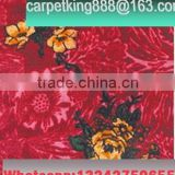 Deep red floral pattern printed carpet for exhibition carpet flooring rugs