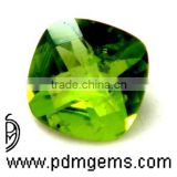 Peridot Cushion Checkerboard Briolette For Diamond Ring From Wholesaler