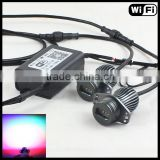 mobile APP wifi control e90 e91 rgb led marker color changing halo rings no error rgb wifi led angel eyes e90 for bmw e91
