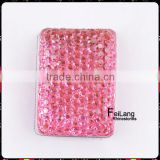 Feilang brand rectangle shape with rose color fancy resin beads