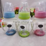 BPA Free 100ml /180ml/200ml Borosilicate Glass Baby Feeding Bottle With handle Pink Blue Green Baby Bottles