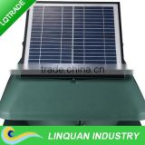 adjustable solar panel 14 inch 20W roof mounted industrial exhaust fan