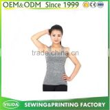 Bulk Fitness Bodybuilding Tank Top Bamboo Fiber Cotton Plain Custom Women Grey Tank Top OEM