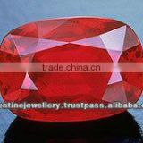Artificial Corundum Blood Red cushion Cut Ruby Stone, wholesale precious ruby stone, faceted cushion shaped ruby gemstone for wh