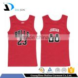 Daijun OEM 2016 new design many colors available cotton printing women singlet