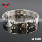 Plated black nomination bracelet stainless steel nomination bracelet