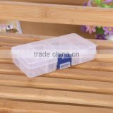 15.4X7X3cm slots Transparent Plastic DIY Tool Organizer Jewelry Bin Storage Box with dividers