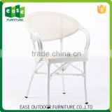 Manufacturer Best Quality Reception Non-wood Aluminum patio furniture outdoor wicker dining chair