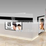 cheap and high quality hair dressing kiosk design with three hair dressing station for barber store sale