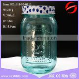 food packaging glass jars glass mason jar in light blue color