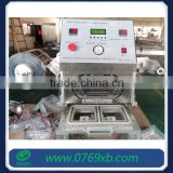 Manual square tray cup lid sealing machine