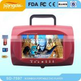 Portable DVD CD MP3 Boombox Player with USB/TV/FM