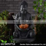 Wholesale Polyresin Figures Buddha Statue Solar Light for Outdoor