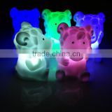 twelve chinese zodiac signs with led colorful light, soft rubber vinyl toy,led plastic toy