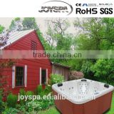 69 JETS Waterproof pools Acrylic fiberglass shell Square hot tub outdoor spa massage tub