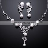 New silver jewelry set,pearl jewelry set christmas gifts