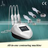 Body shape slimming,Desktop vacuum&RF system,3 different size of handle for eyes&face&body