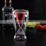 wholesale unique design clear double wall beer or red wine glass cup/ drinking glass tea cup made in china