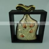 Cheap Ceramic&Porcelain Vases,Gold and silver Vases with frame,wholesales flower vase