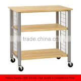 Kitchen Table Trolley Storage Unit - Wood and Metal