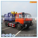 Dongfeng double rear axles 210HP 15m3 hook lift garbage truck
