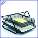 2013 best selling 2 tier sturday office metal wire a4 document tray