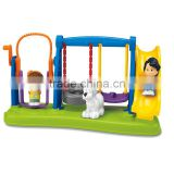Wholesale Cheap Plastic Kids Toy Promotional Gift Sweet Baby Swing&Slides Toy