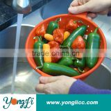 Multi-Purpose Collapsible/Fodable/Folding Silicone Colander/ Strainer Basket for Vegetable