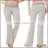 Ecoach Wholesale 2016 latest custom design pregnant women Adjustable Waist pants lightweight plain pajama pants for Maternity