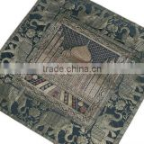 Decorative Accent Silk Pillows Brocade Taj Mahal Indian Square Cushion Covers