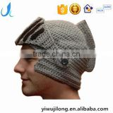 Hot Sell Roman Knight Helmet Hat Crochet Winter Warm Mask Beanies cap