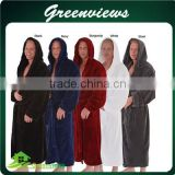 Factory Wholesale robe Microfiber /Cotton/ bamboo fiber bath robe custom size robes with bags or box GV007