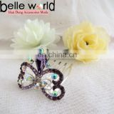 Elegant Mini Rhinestone Butterfly Hair Comb Clip for Wedding