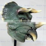 Spread like wildfire Eco-friendly Adult size realistic Mask Deluxe Costumes Dinosaur Mask for Halloween